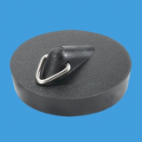McAlpine Black PVC Kitchen Sink and Bath Plug 1.3/4 - 74000321